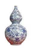 中国装饰金瓜瓷花瓶 免版税库存照片