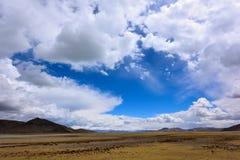 中国西藏雪暴风云 免版税库存照片