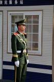 中国警察在北京中国聪明地守卫 免版税库存照片