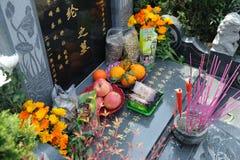 中国详尽的坟茔 免版税库存图片