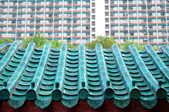 中国详细资料屋顶 图库摄影