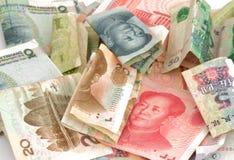 中国货币元rmb票据 免版税库存照片
