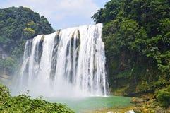 中国贵州黄果树瀑布在夏天 库存照片