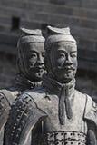 中国赤土陶器战士 库存照片
