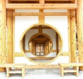 中国走廊传统木 库存图片