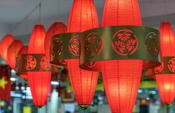 中国越南红色灯笼垂悬了一个传统亚洲假日 免版税图库摄影