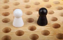 中国跳棋小雕象 库存图片