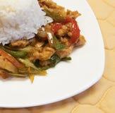 中国辣鸡和菜 免版税库存照片