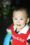 中国逗人喜爱的男婴 免版税库存照片