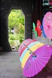 中国遮阳伞 免版税库存图片