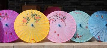 中国遮阳伞 免版税库存照片