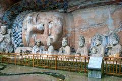 中国重庆大足岩石雕刻 免版税库存照片