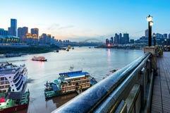 中国重庆市光 免版税图库摄影