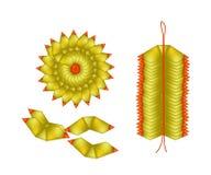 中国金子由特殊场合的偶象纸制成 库存图片