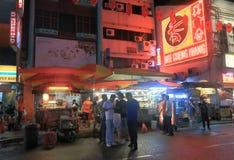 中国镇吉隆坡夜 免版税库存照片