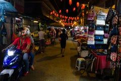 中国镇夜生活  免版税库存照片