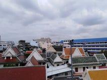 中国镇屋顶在曼谷 免版税库存照片