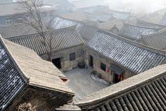 中国镇屋顶  库存图片
