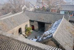 中国镇屋顶  库存照片