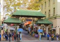 中国镇门在旧金山 库存图片