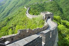 中国长城在夏天 免版税库存图片