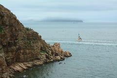中国长岛码头 库存图片