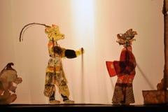 中国阴影木偶戏 免版税库存图片