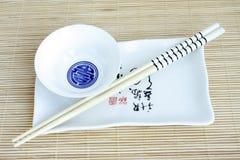 中国陶器集 免版税库存照片