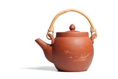 中国陶瓷茶壶 免版税库存图片