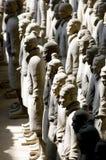 中国陶砖土地战士 免版税库存图片
