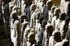 中国陶砖土地战士 图库摄影