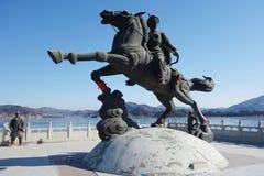 中国雕象 库存照片