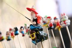 中国面团小雕象 免版税图库摄影