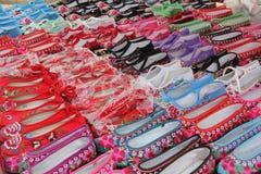 中国鞋子 免版税库存照片