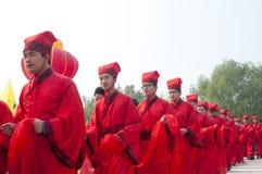 中国韩式许多婚礼 免版税图库摄影