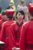 中国韩式许多婚礼 免版税库存图片