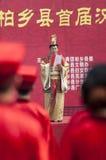 中国韩式许多婚礼 图库摄影