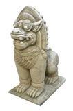 中国顶头狮子雕象寺庙泰国 图库摄影
