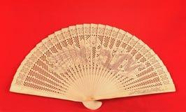 中国风扇红色 图库摄影