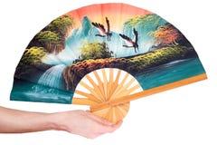 中国风扇 免版税图库摄影