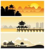 中国风景阴影 库存照片