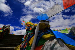 中国风马奇ï ¼ ‰的西藏祷告ï ¼ ˆThe名字 免版税库存图片