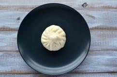 中国食物专业饺子平的位置  免版税库存照片