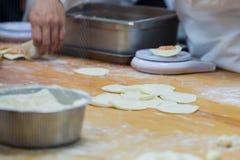 中国食物制造,粤式点心 库存图片