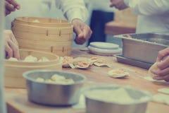 中国食物制造,粤式点心 免版税库存图片