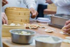中国食物制造,粤式点心 库存照片