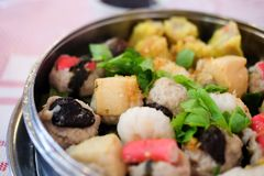 中国食物开胃菜混杂的粤式点心 免版税库存图片