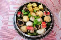 中国食物开胃菜混杂的粤式点心 免版税库存照片