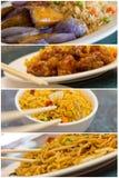 中国食物拼贴画 图库摄影