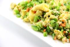 中国食物炒蛋 图库摄影